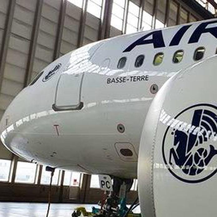 Le nouveau Airbus d'Air France se nomme Basse-Terre