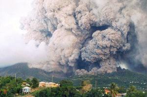 Montsierra eruption 1997