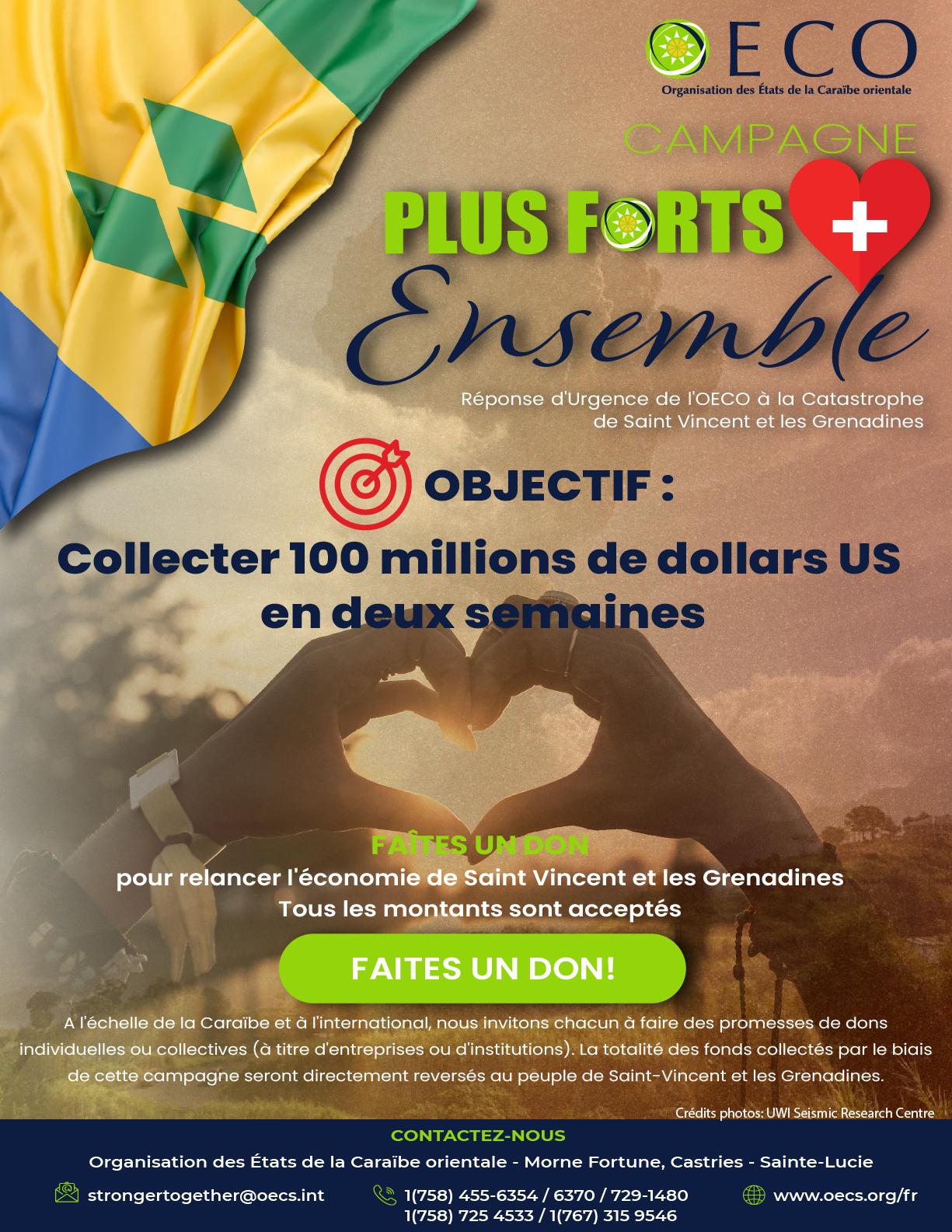 Campagne OECS appel aux dons pour Saint-Vincent