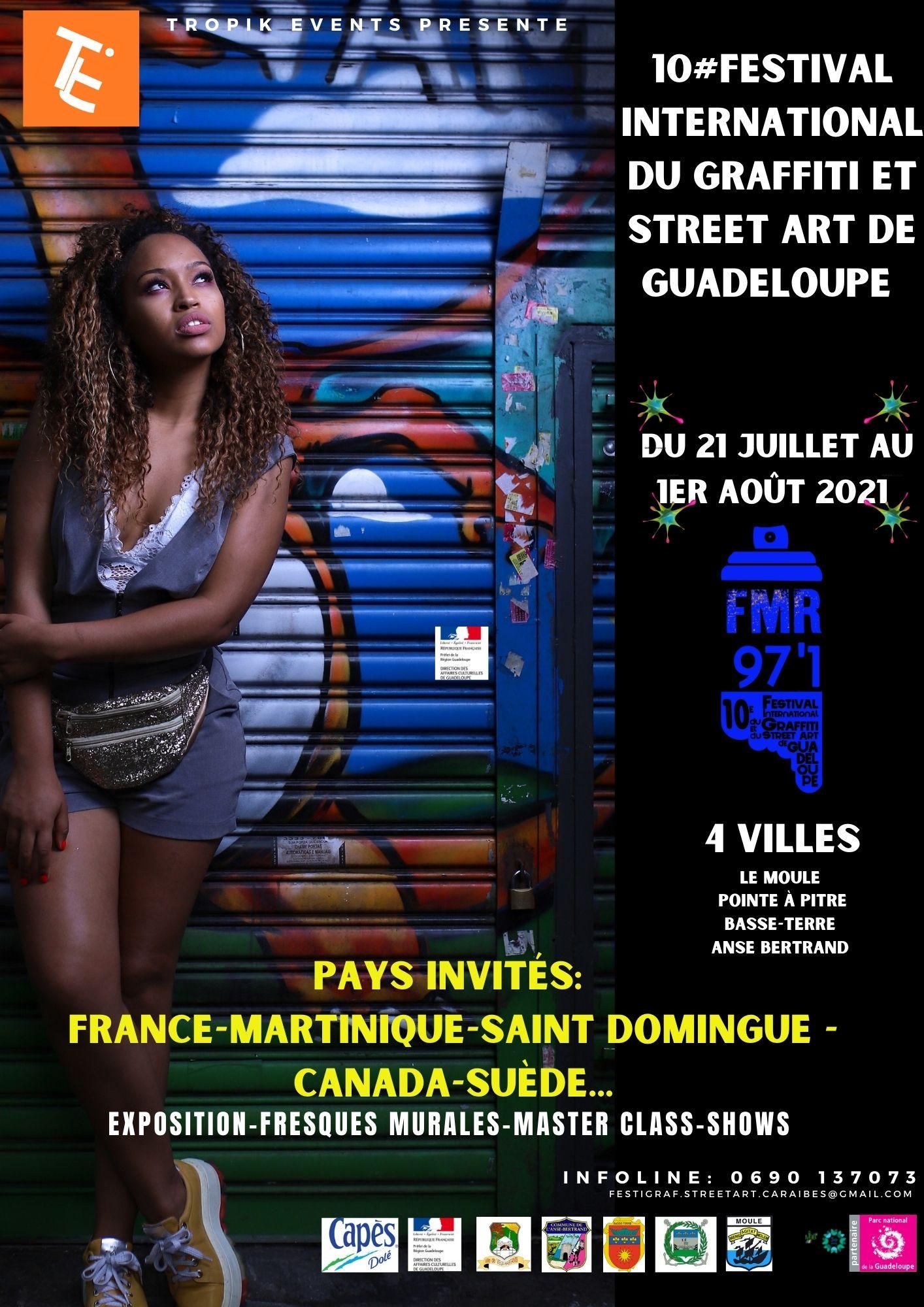 10 eme Festival international du Graffiti et Street art de la Guadeloupe