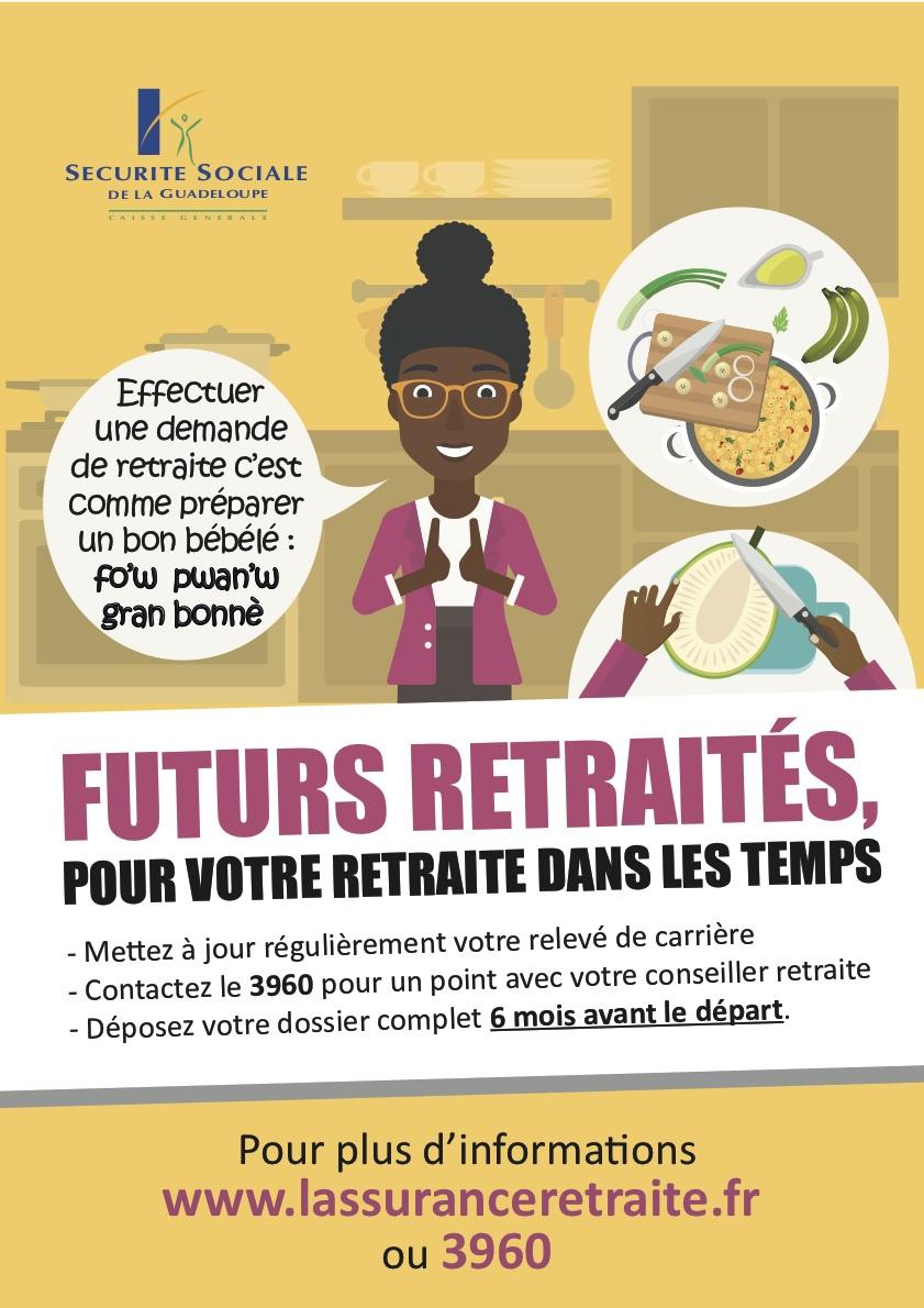 Affiche Campagne Demande de Retraite 2021